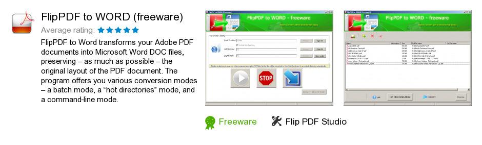 FlipPDF to WORD (freeware)