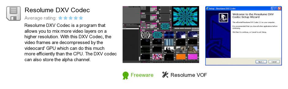 Resolume DXV Codec