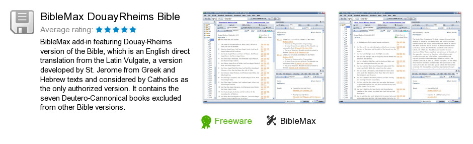 BibleMax DouayRheims Bible