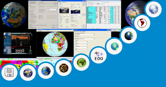 Software collection for Gadget Windows 7 Earth Globe