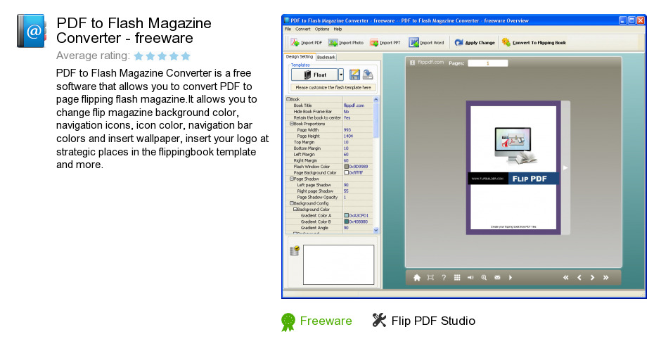PDF to Flash Magazine Converter - freeware