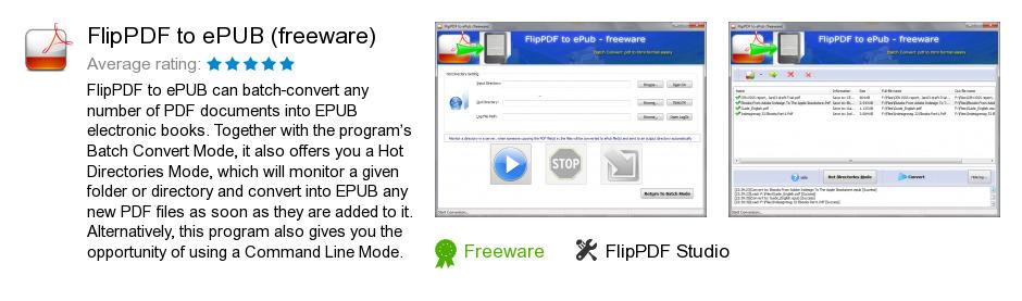 FlipPDF to ePUB (freeware)