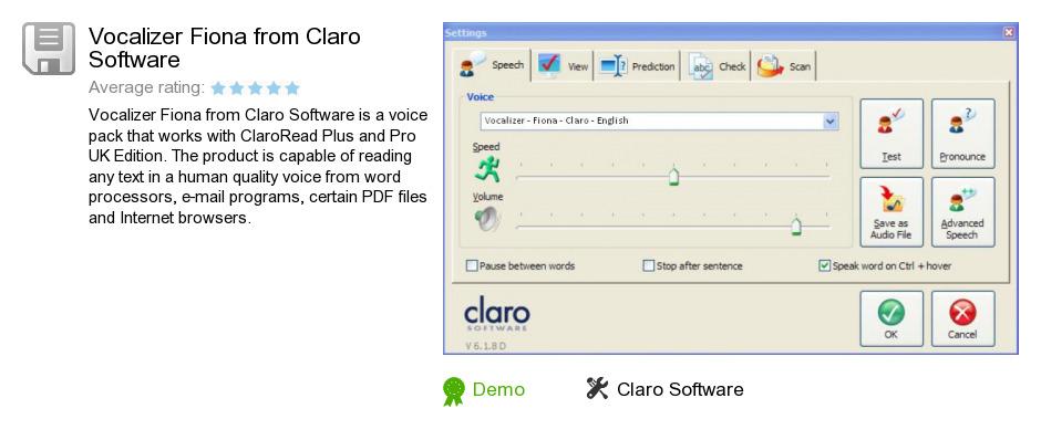 Vocalizer Fiona from Claro Software