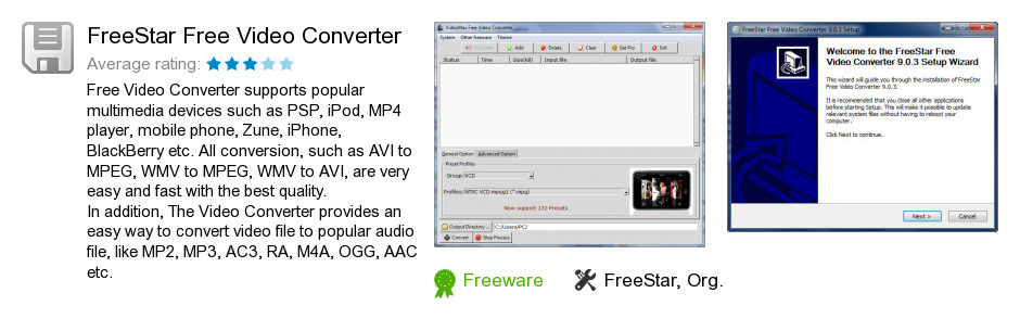 FreeStar Free Video Converter