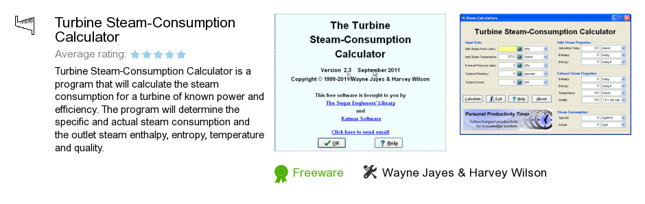 Turbine Steam-Consumption Calculator
