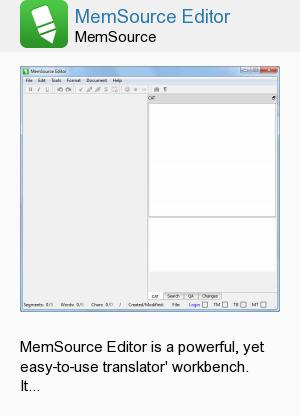 MemSource Editor