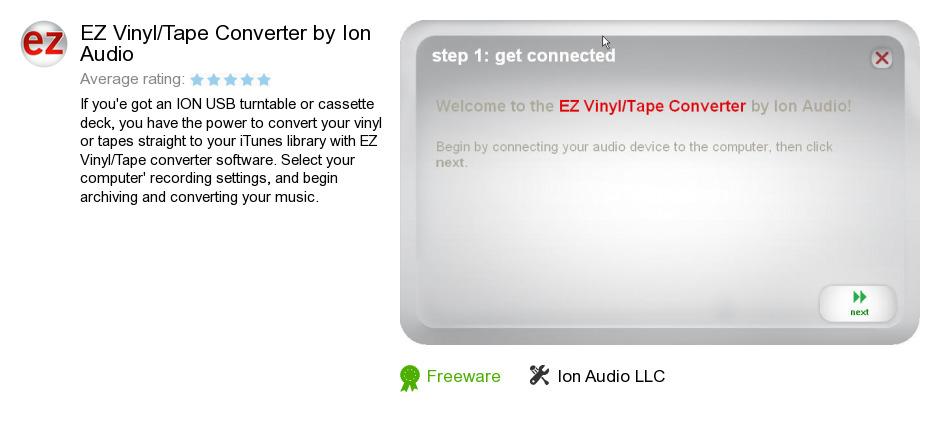 EZ Vinyl/Tape Converter by Ion Audio