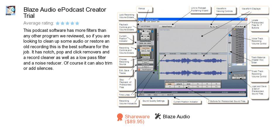 Blaze Audio ePodcast Creator Trial