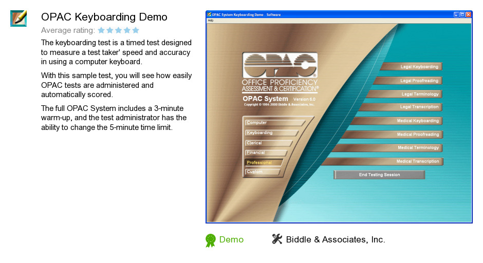 OPAC Keyboarding Demo