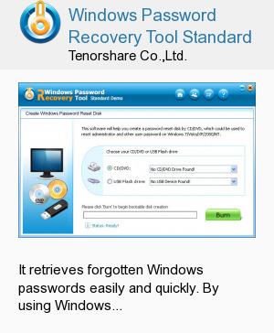 Windows Password Recovery Tool Standard