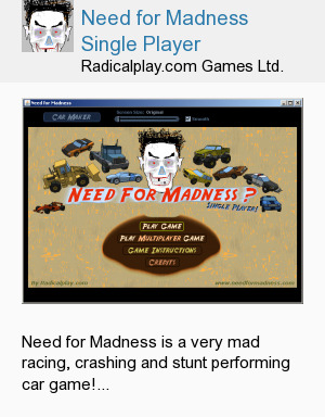 Need for Madness Single Player