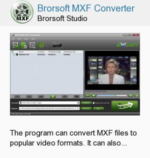 Brorsoft MXF Converter