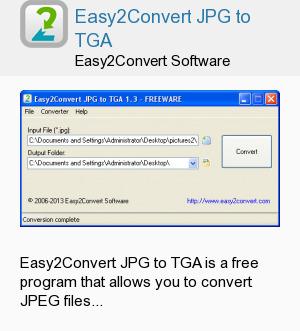 Easy2Convert JPG to TGA