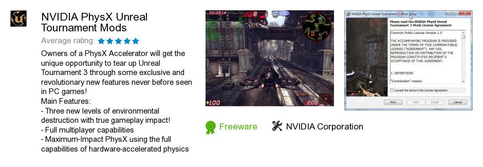 NVIDIA PhysX Unreal Tournament Mods