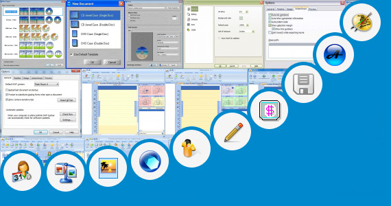 Software collection for Hand Cd Label Stamper