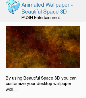 Animated Wallpaper - Beautiful Space 3D