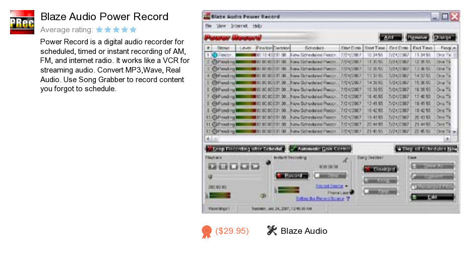 Blaze Audio Power Record