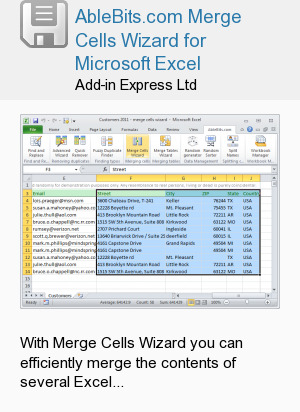 AbleBits.com Merge Cells Wizard for Microsoft Excel
