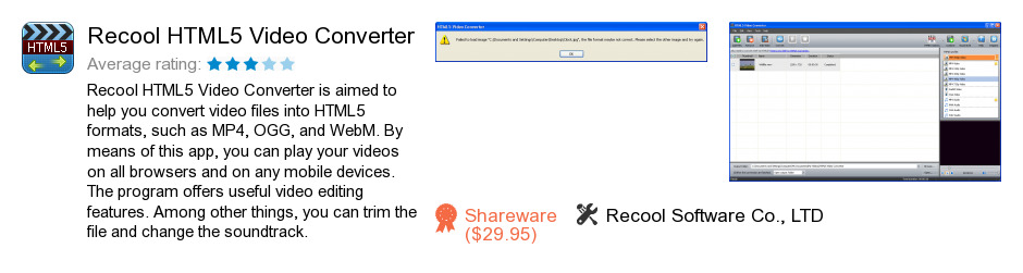 Recool HTML5 Video Converter
