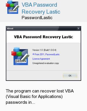 VBA Password Recovery Lastic