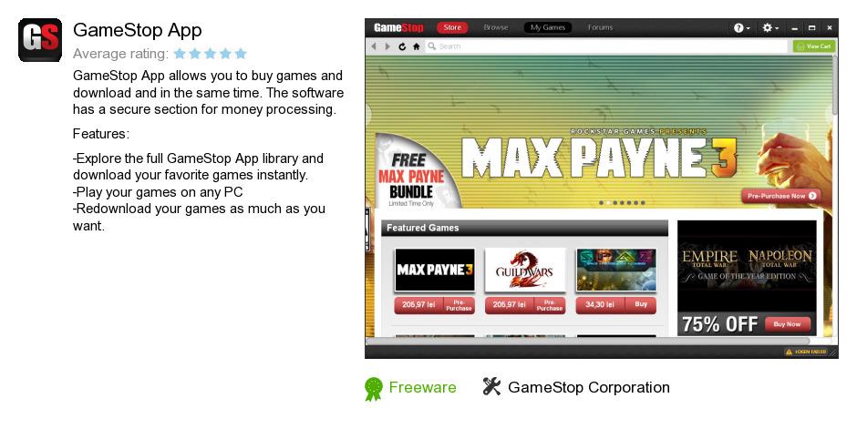 review gamestop app is a software program developed by gamestop