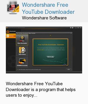 Wondershare Free YouTube Downloader