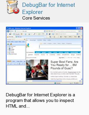 DebugBar for Internet Explorer