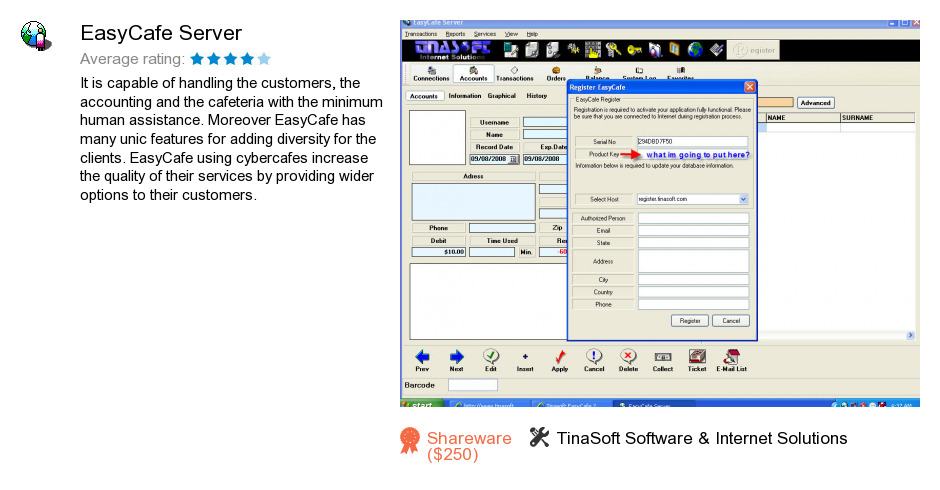 tinasoft easycafe 2.2.14 full with serial and crack
