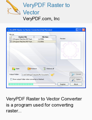 VeryPDF Raster to Vector