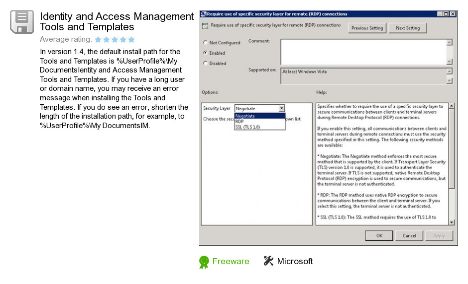 Identity and Access Management Tools and Templates