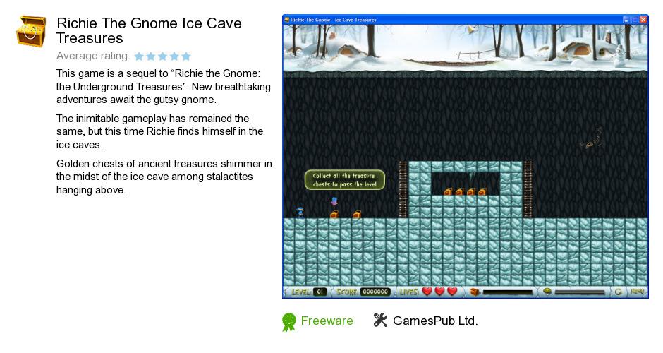Richie The Gnome Ice Cave Treasures