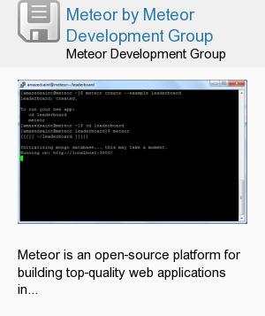 Meteor by Meteor Development Group