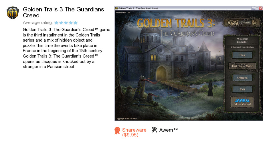 Golden Trails 3 The Guardians Creed