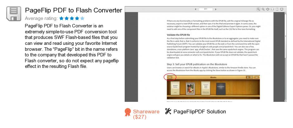 PageFlip PDF to Flash Converter