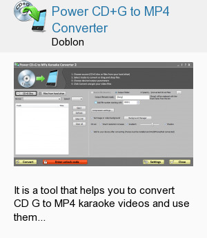 Power CD+G to MP4 Converter