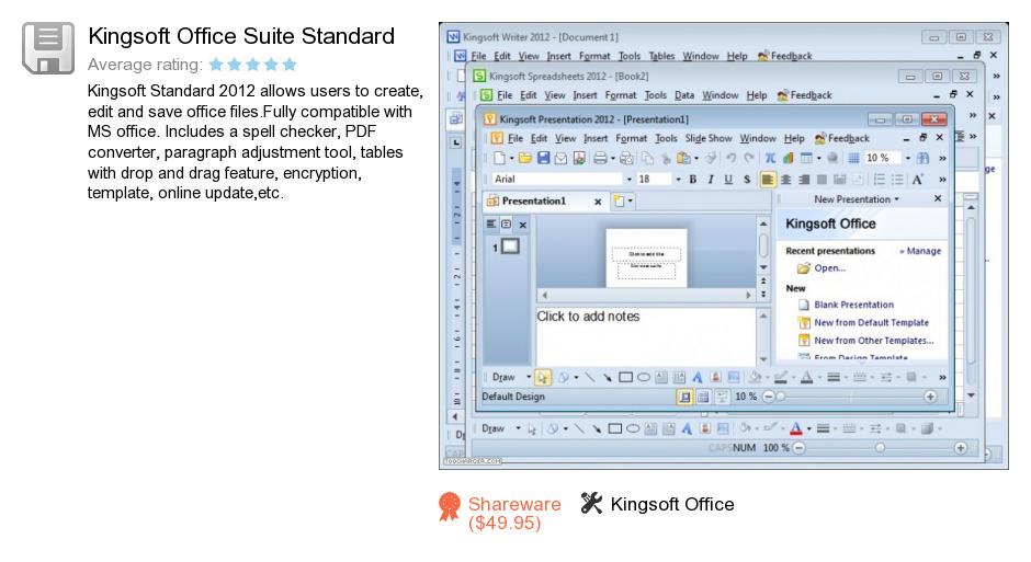 Kingsoft Office Suite Standard