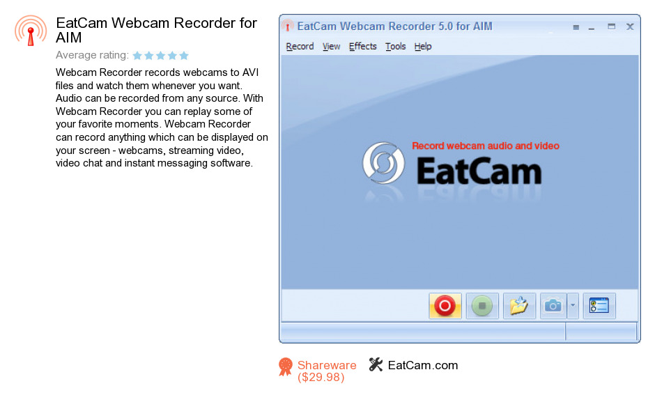 EatCam Webcam Recorder for AIM