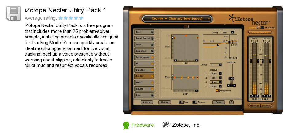 IZotope Nectar Utility Pack 1