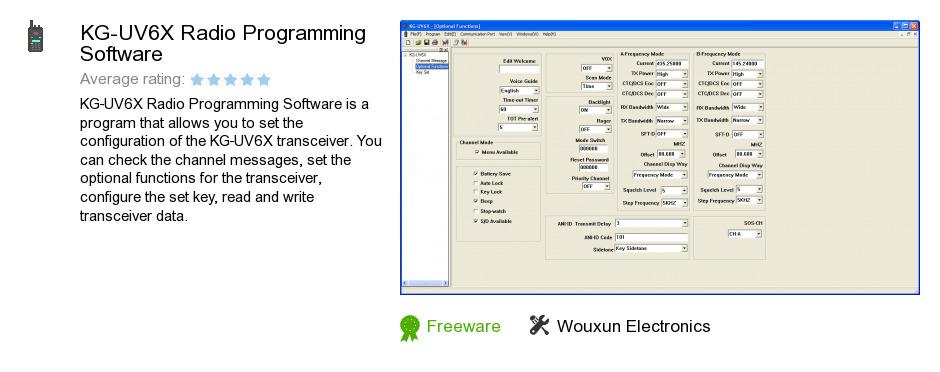 KG-UV6X Radio Programming Software