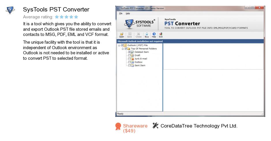 SysTools PST Converter