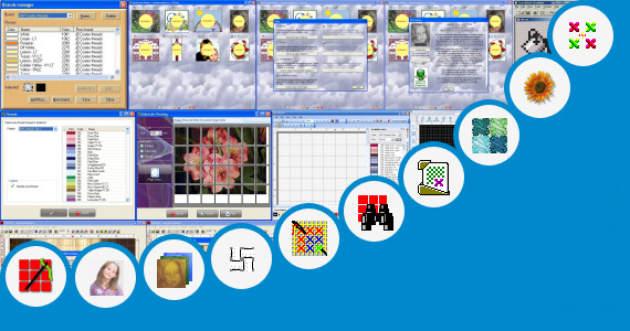 Software collection for Gujrati Stitch Pattern