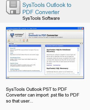 SysTools Outlook to PDF Converter