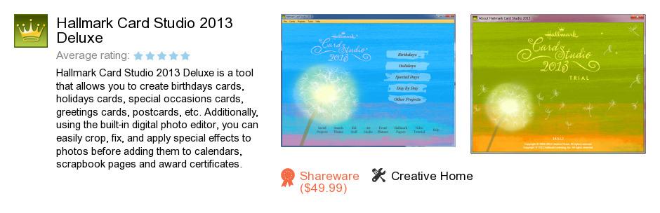 Hallmark Card Studio 2013 Deluxe