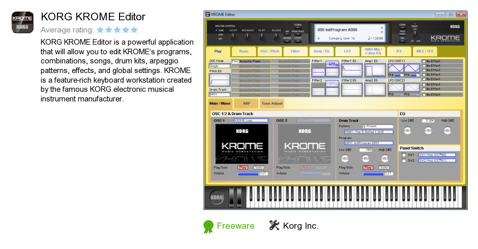 KORG KROME Editor
