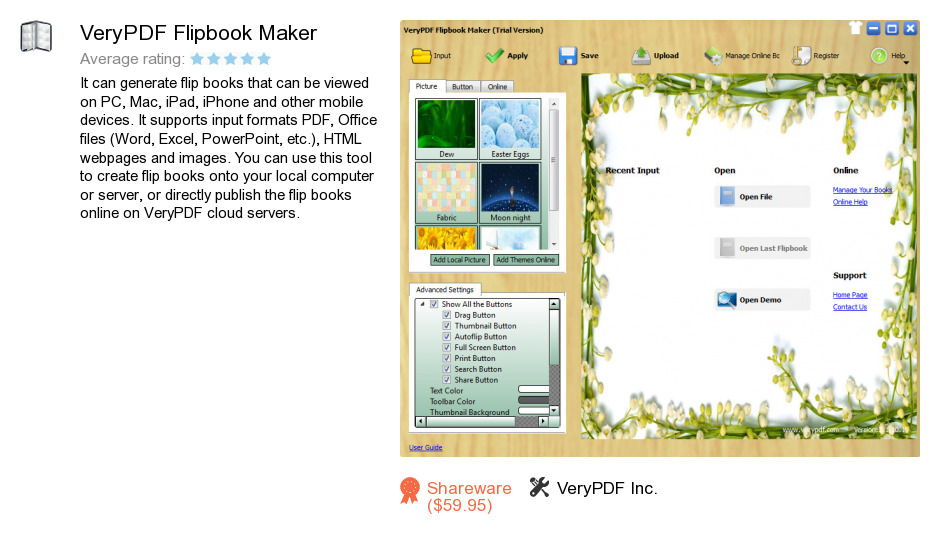 VeryPDF Flipbook Maker