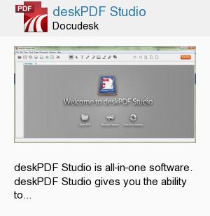 deskPDF Studio