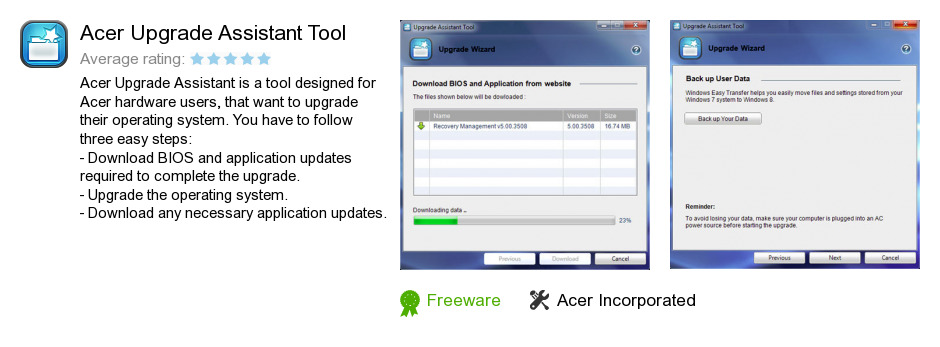 Acer Upgrade Assistant Tool