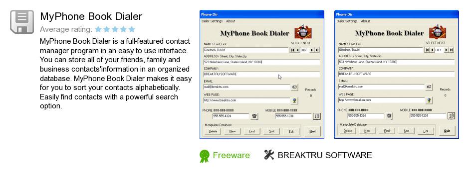 MyPhone Book Dialer