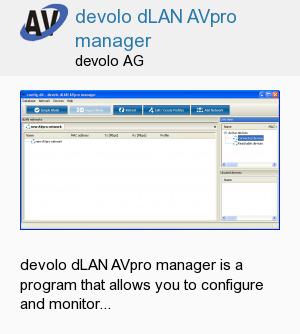 devolo dLAN AVpro manager
