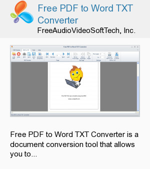 Free PDF to Word TXT Converter
